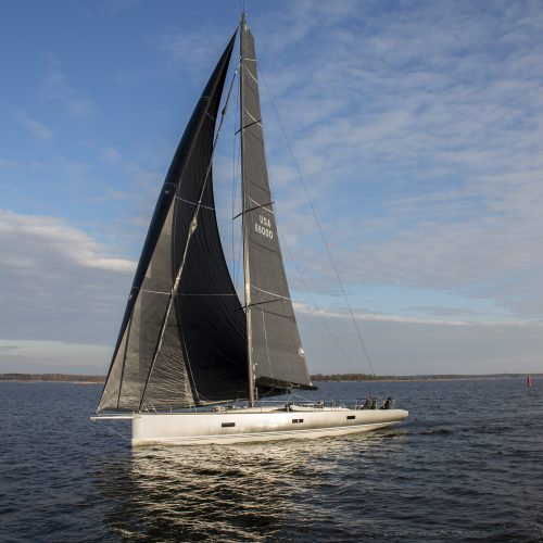 Baltic 68, carbon mast, carbon boom, hall spars